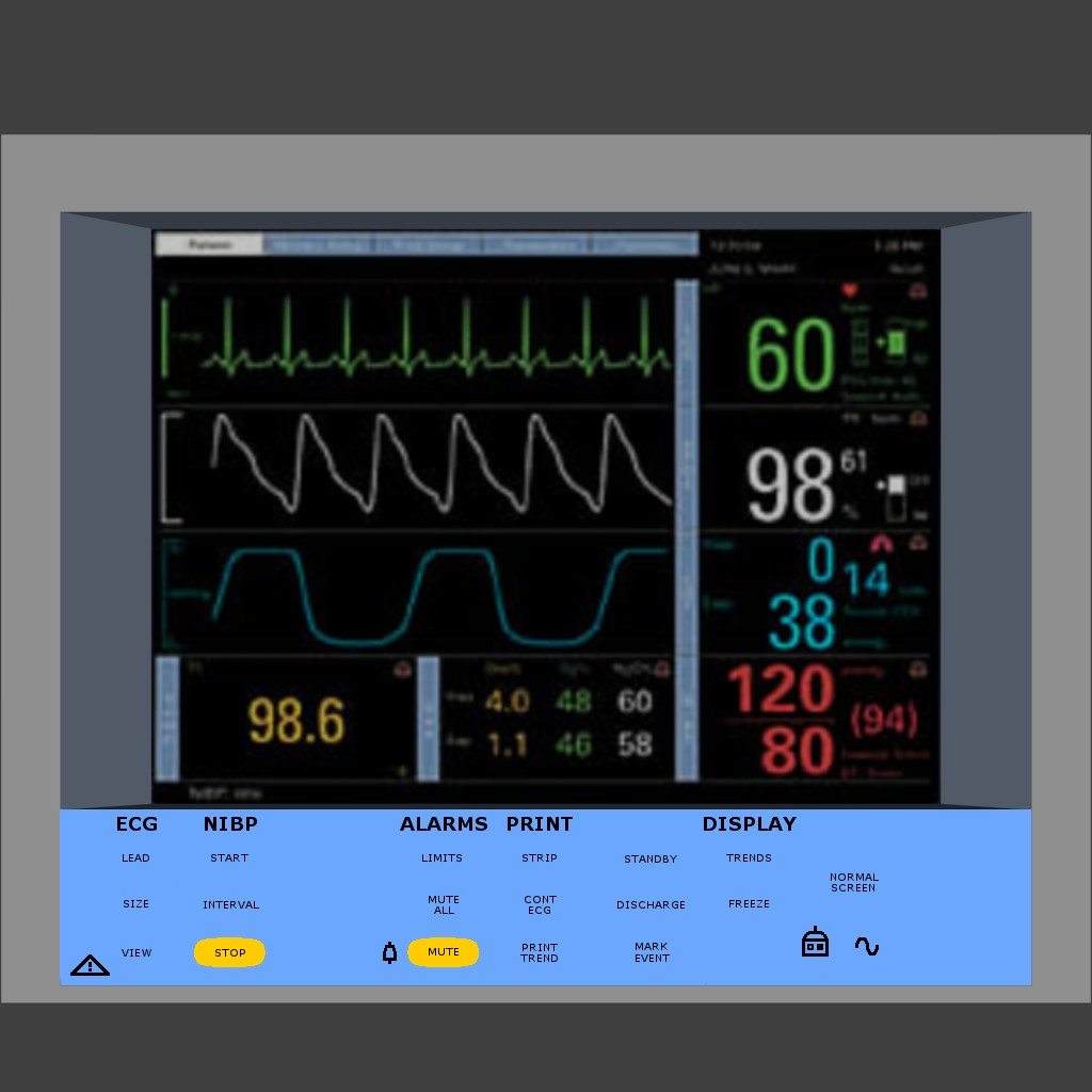 Heart/patient Monitor textured BDF preview image 3