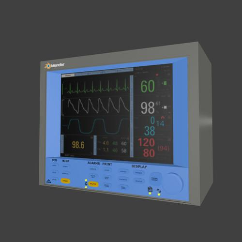 Heart/patient Monitor textured BDF preview image