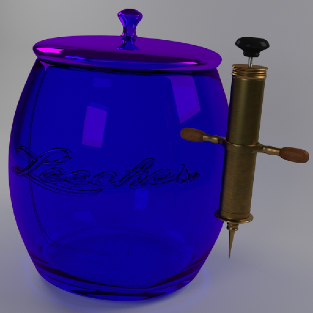 1860's style Syringe and Leech jar preview image 4