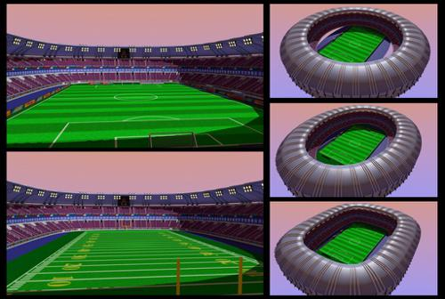 Soccer and American football stadium  preview image
