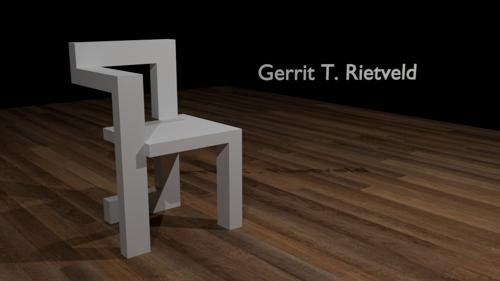 Rietveld - Steltman chair . preview image
