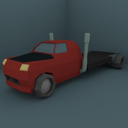 Low Poly Flat Bed Truck | Hauler preview image