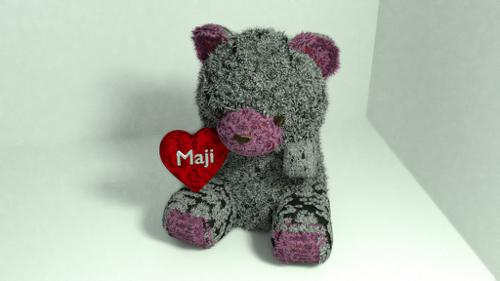 Small bear with heart preview image