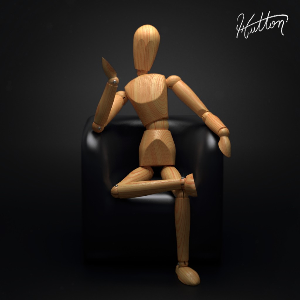 Wooden mannequin - Rigged preview image 1