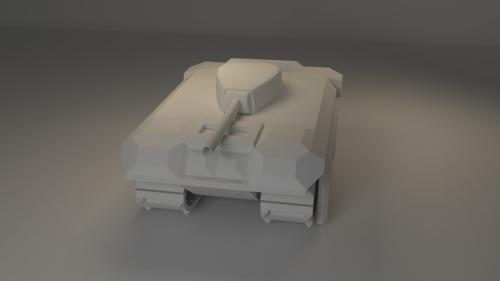 Cartoonish Tank Model preview image