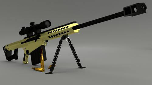 Barrett M82A3 Sniper Rifle (Gold) Cycles preview image