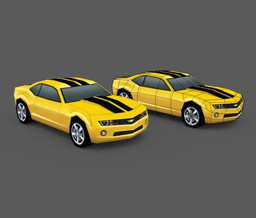 Low Poly 2010 Camero preview image