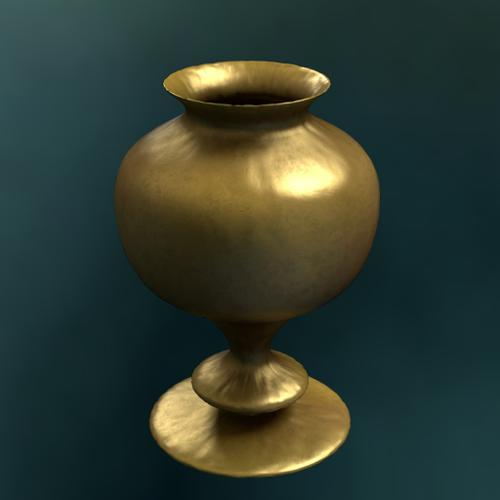 Old brass vase preview image