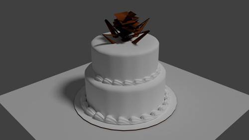 basic 2 tier cake preview image