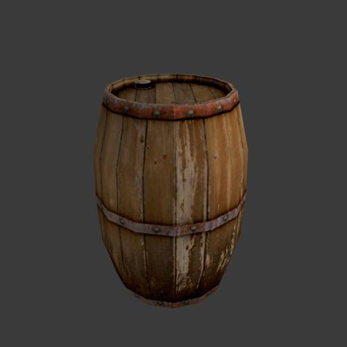wooden Barrel preview image
