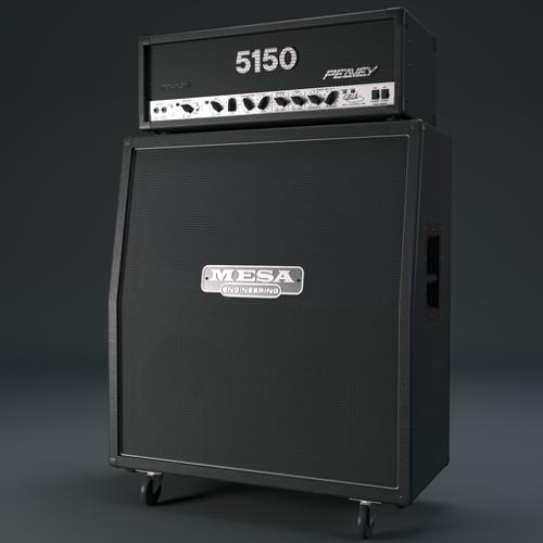 Guitar amp half stack preview image