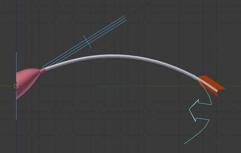 Cartoon arrow with a suction cup rigged v.2 preview image 1