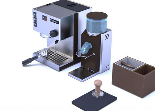 Espresso machine and coffee grinder preview image