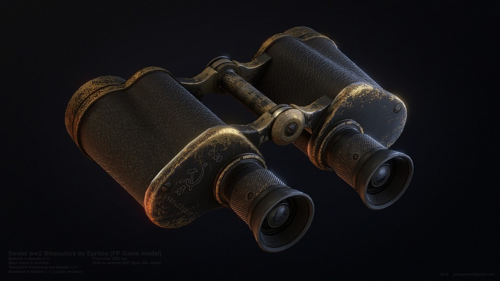 Low poly WW2 Binoculars preview image 1