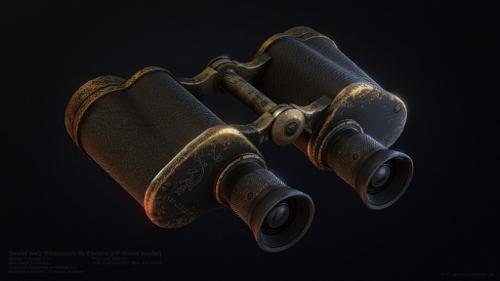 Low poly WW2 Binoculars preview image