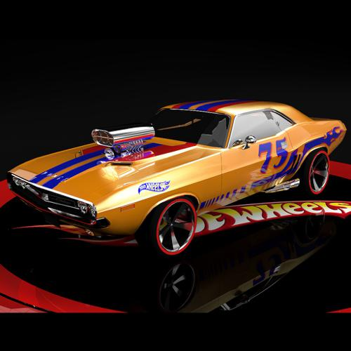 hot wheels dodge challenger supercharged preview image