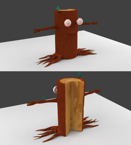 Log Creature with Chopped Back preview image