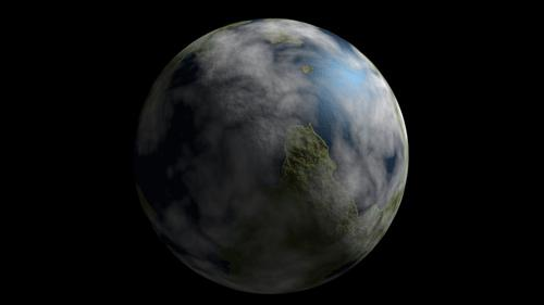 Cycles Telluric Planet Procedural Generator preview image