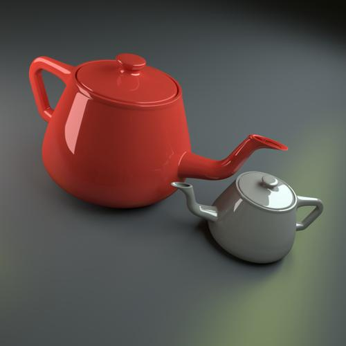 Simple Pair of Teapots preview image