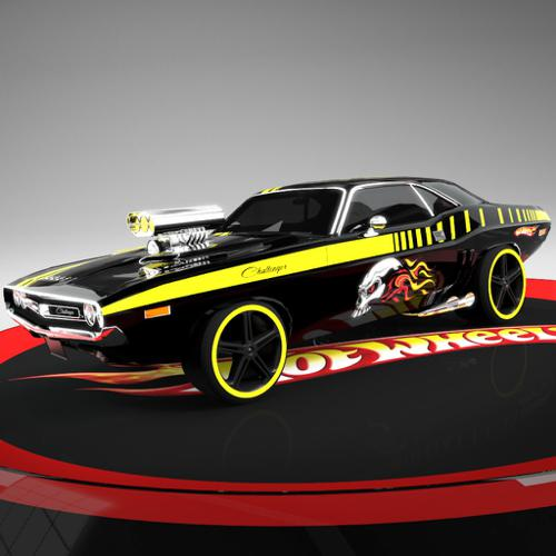 hot wheels dodge challenger supercharged BLACK preview image