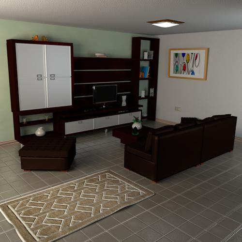 Austere Living Room preview image