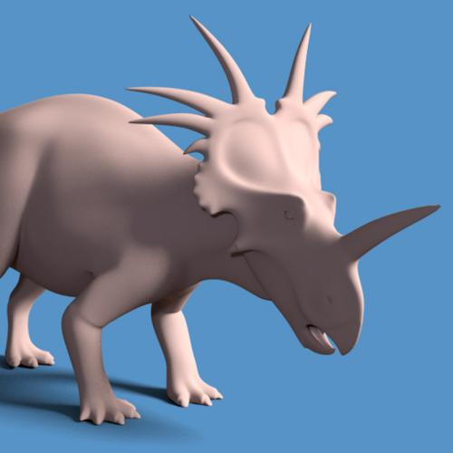 Styracosaurus Posed preview image