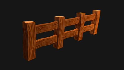 Wooden Fence - Low Poly Asset preview image