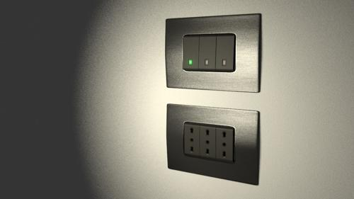 electric light switch and european plugs preview image
