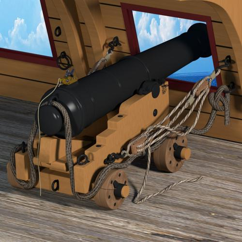 British 24 pound naval cannon preview image