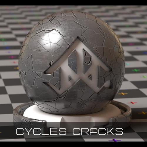 Cycles Procedural Cracks/Scratches with Worn Edges preview image