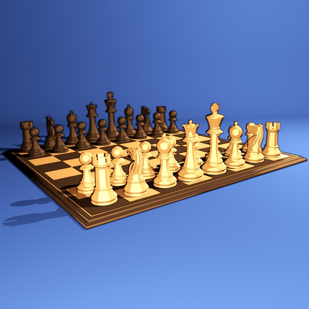 Chess set with toon shader preview image 1