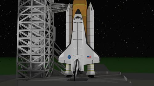 Low Poly Space Shuttle+LaunchVehicle preview image