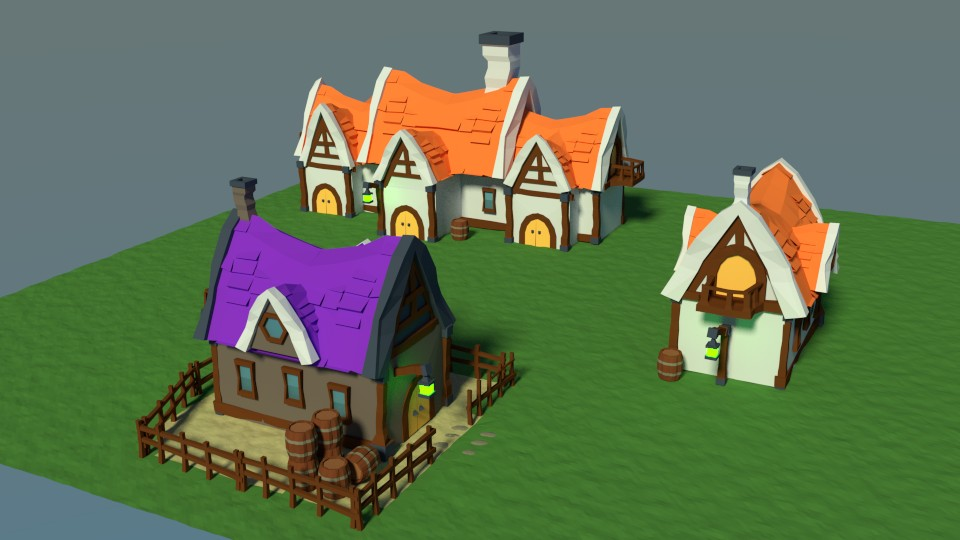 Medieval peasant village preview image 2