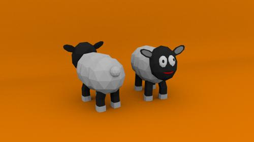 Low Poly Sheep Model preview image