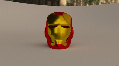 simpified iron man helmet preview image