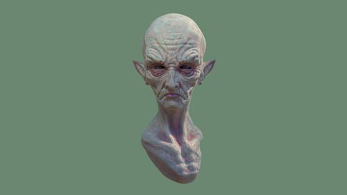 Retro-extraterrestrial (based on Jordu Schell's 50's Style alien head) preview image