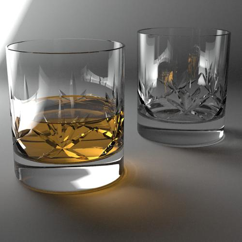 Cut Glass Tumblers (Luxrender) preview image