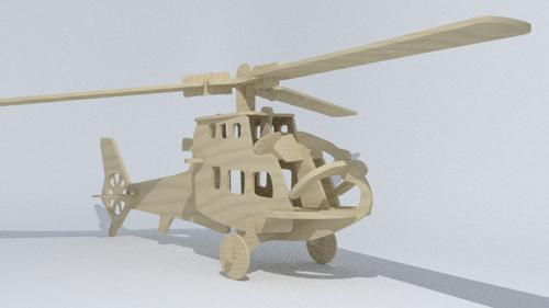 Wood helicopter preview image