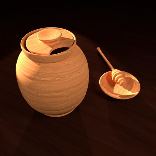 Wooden Honey Jar preview image