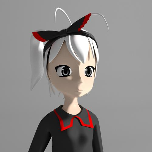 anime girl-yuko-IK RIGGED preview image