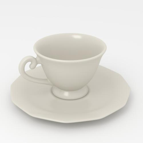 Teacup and saucer preview image