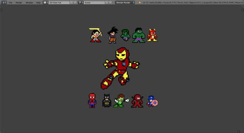 Pixel DC and Marvel Superheros preview image
