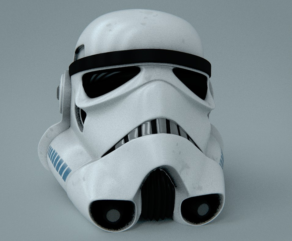 Stormtrooper Helmet by croasan with some UVs preview image 1