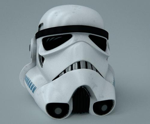 Stormtrooper Helmet by croasan with some UVs preview image