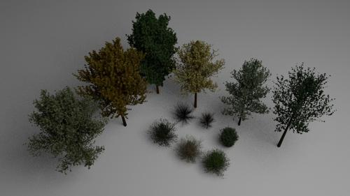 Trees & Bushes pack preview image