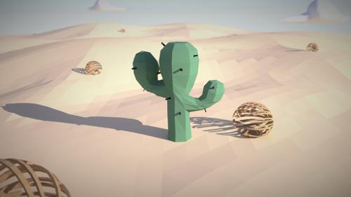 Low Poly Cactus (desert scene) preview image