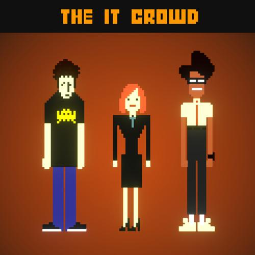 The IT Crowd - Block Art preview image
