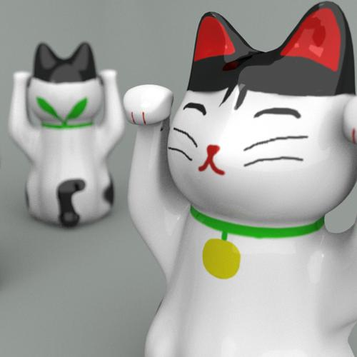 Maneki neko statue preview image