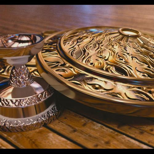 Candlestick and Shield with Ornamental Details shader preview image
