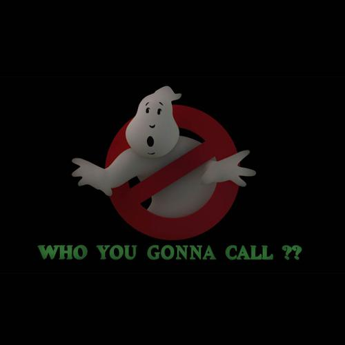 Ghostbusters Sign with Text preview image